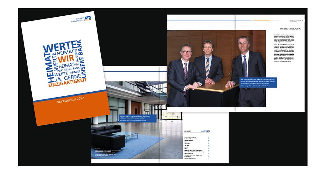Volksbank Geschäftsbericht, Prospekt